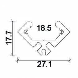 Profilo LED in alluminio NP169