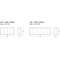 Emergency kit LED L1271/3-SE - 300mA - 7,2 V-1,6 Ah