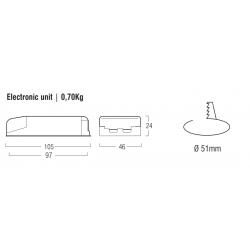 LED Emergency Kit L1241-SE - 300mA - 48 V-1,6 Ah
