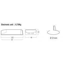 Alimentatore con emergenza integrata - L2471 - CC / CV - 7,2 V - 1,6 Ah