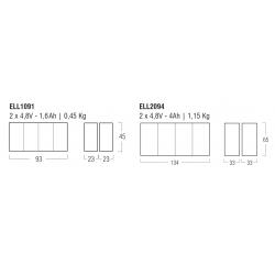 LED Emergency Kit ELL1094 - Lampade Led 12V - GU5.3 - Autonomy 1h - 9,6 V - 4 Ah