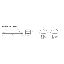 LED Emergency kit ELH774 - Lampade Led 230V - GU10 - Autonomia 1h - 7,2 V - 4 Ah