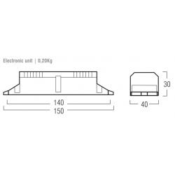 Kit Emergenza LED ER5834 - per lampade 18-58 W - Autonomia 1h -  Batt. 3,6 V - 4 Ah