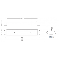 AL1 SERIES LED power supply ON/OFF - CC - 10 W