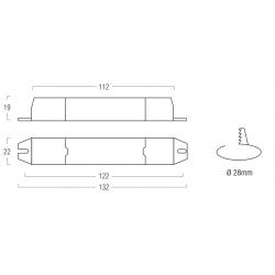 SERIE AL1 Alimentatore per LED ON/OFF  - CC - 10W
