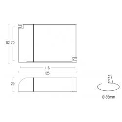 AL6024 Alimentatore per LED ON/OFF - CV 24 V  - 60 W