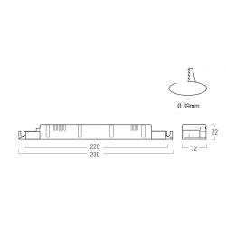 SERIE ALT36 Alimentatore per LED - CC - 30/40/42 W