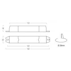 DL/DP mini - Dimmer LED - Light dimming for LED Driver CV 12 e 24 V