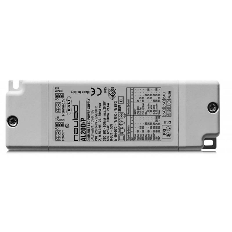 SERIE AL20D/P A Dimmable LED power supply multicurrent e multivoltage CC/CV