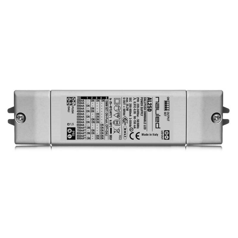SERIE AL25D Dimmable LED power supply multicurrent CC