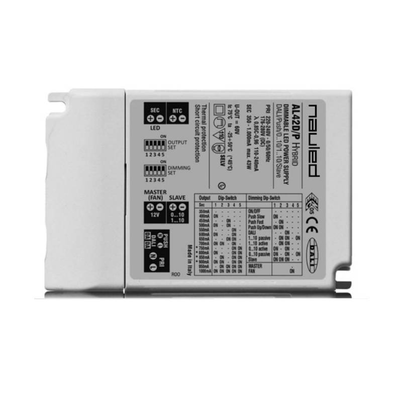 SERIE AL42D/P Alimentatore dimmerabile per LED multicorrente CC - Hybrid Master/Slave