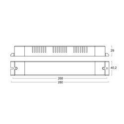 AL7524/DP Alimentatore per LED DIMMERABILE - CV 24 V - 75 W