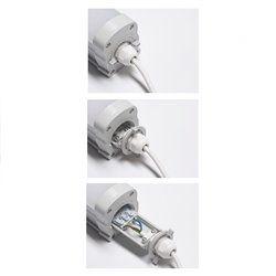 Lampada LED per locali macchina con EMERGENZA integrata - 58 W