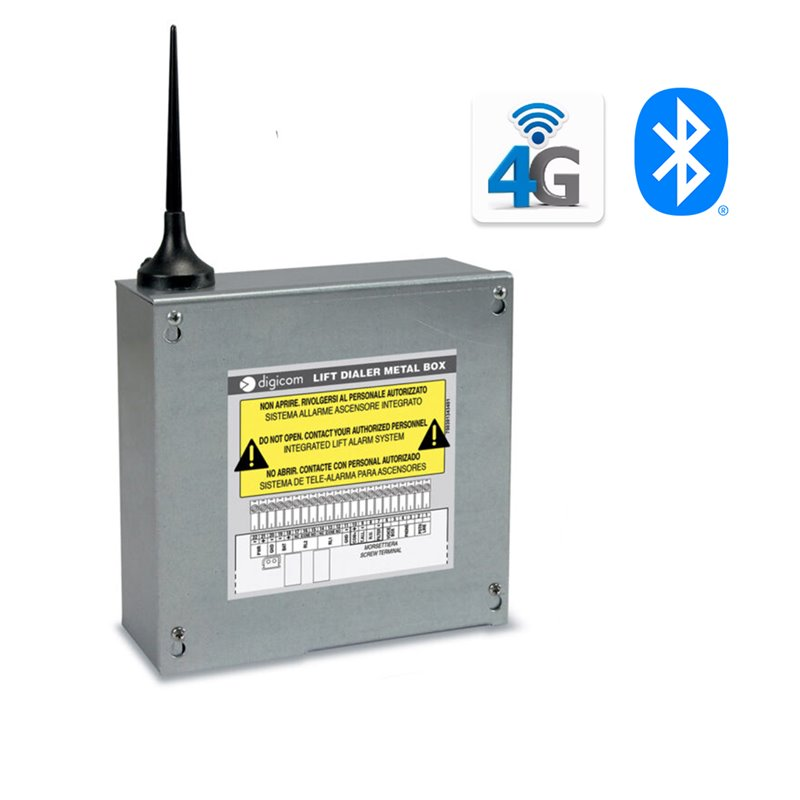 Bidirectional Emergency Phone System for Lifts - 4G Lift Dialer Metal Box -Digicom