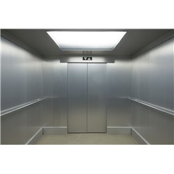 Dibond panels for lift cabin coating