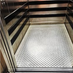 Replacement of lift cabin floors in SHEET METAL