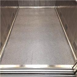 Lift cabin floor replacement in LINOLEUM material