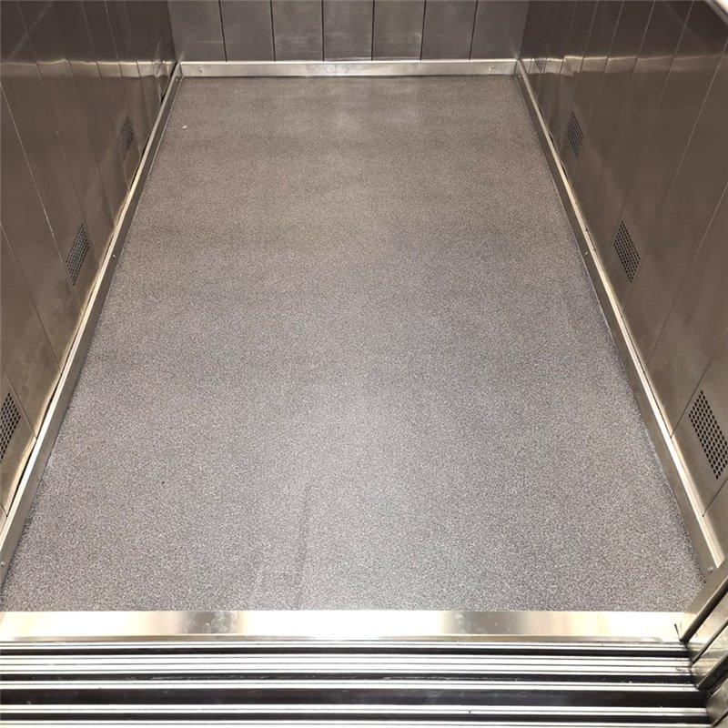 Sostituzione pavimenti cabina ascensore in LINOLEUM