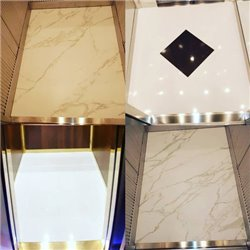 Replacement of elevator cabin floors in MARBLE