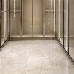 Sostituzione pavimenti cabina ascensore in MARMO