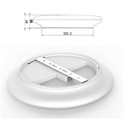 Plafoniera LED tonda 30 cm Ø -  EMERGENZA INTEGRATA - 25 W - fissaggio a rotazione