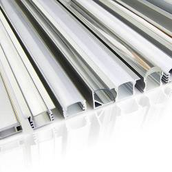 Aluminum profiles for LED flex strips - CUSTOM MADE | Nauled Srl