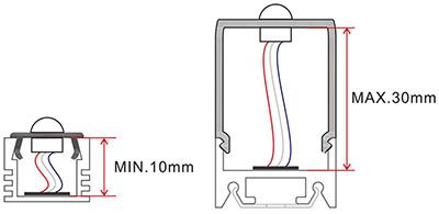 dimensioni sensore di movimento PIR001